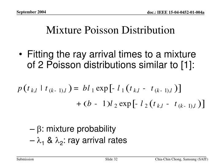 Mixture Poisson Distribution