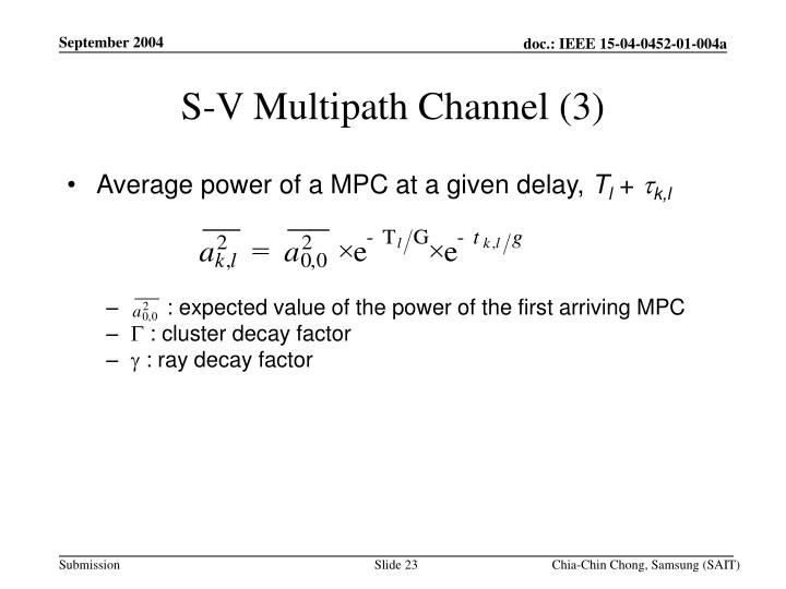 S-V Multipath Channel (3)