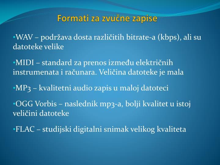 Formati za zvučne zapise