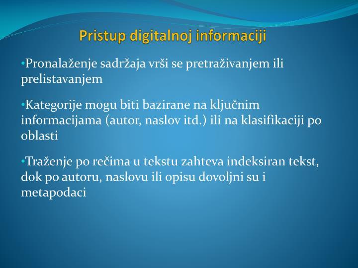 Pristup digitalnoj informaciji