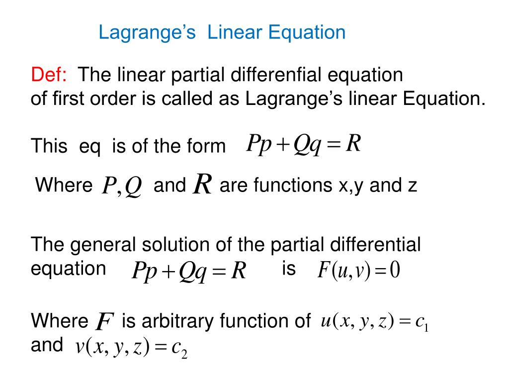 PPT - PARTIAL DIFFERENTIAL EQUATIONS PowerPoint Presentation