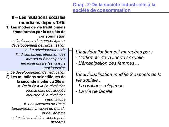 Chap. 2-De la société industrielle à la société de consommation