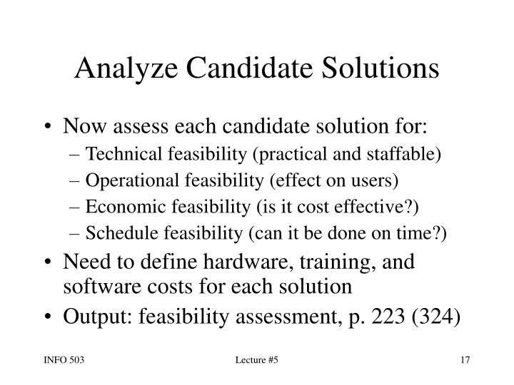 Analyze Candidate Solutions