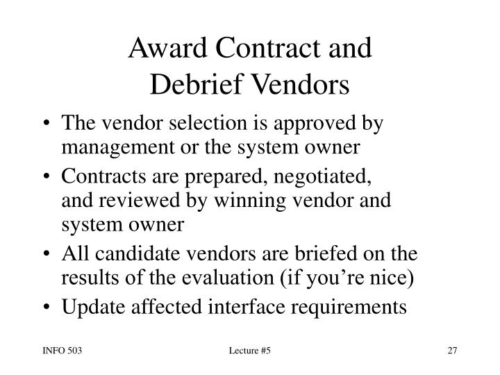 Award Contract and