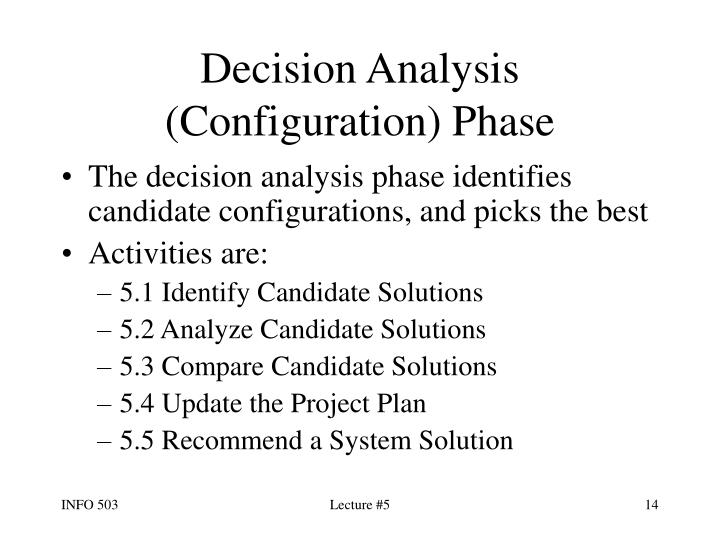 Decision Analysis (Configuration) Phase