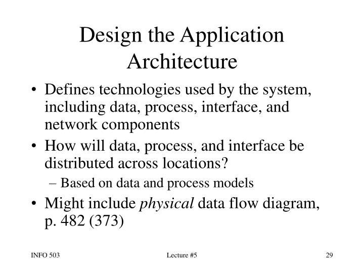 Design the Application Architecture