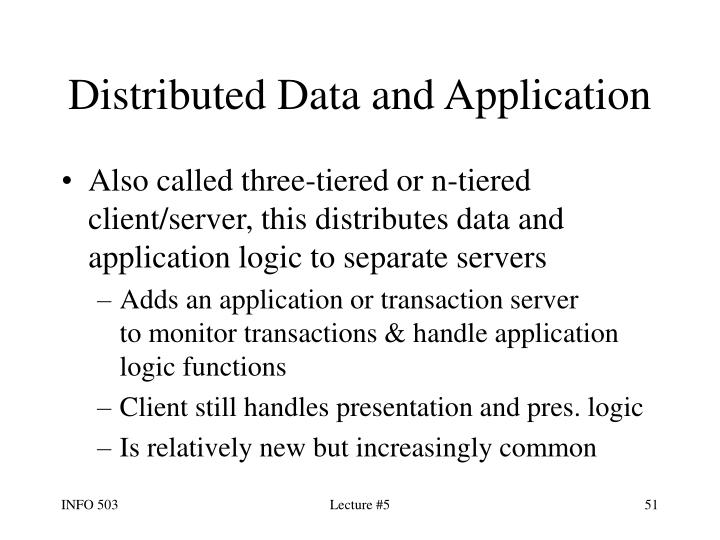 Distributed Data and Application