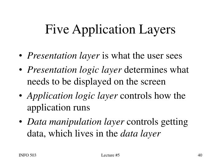 Five Application Layers