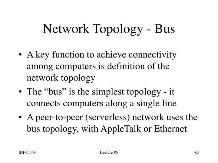 Network Topology - Bus