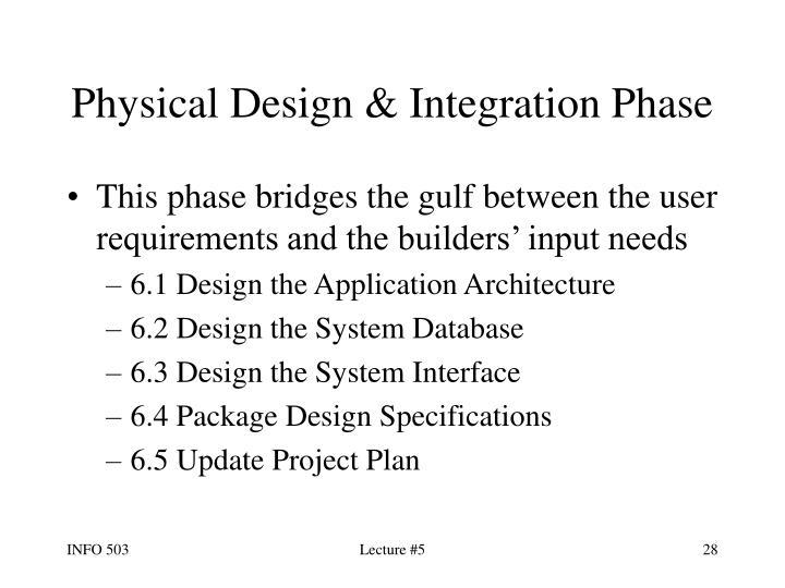 Physical Design & Integration Phase
