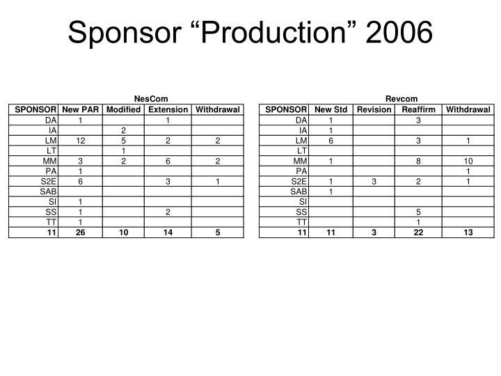 "Sponsor ""Production"" 2006"