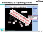 event display of high energy events