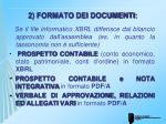 2 formato dei documenti