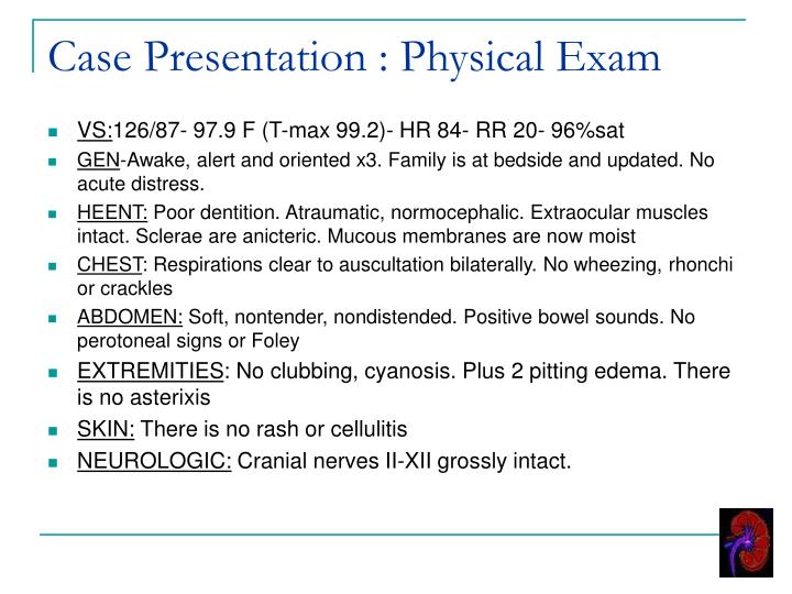 exam presentation