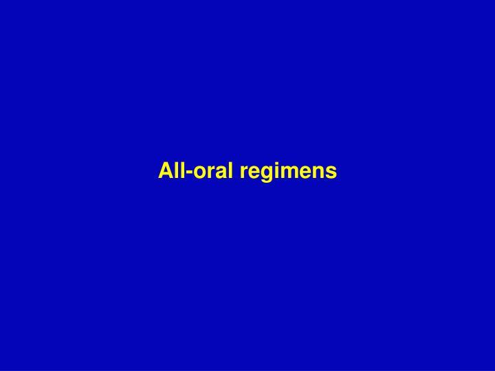 All-oral regimens