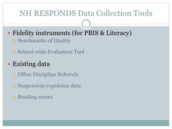 NH RESPONDS Data Collection Tools