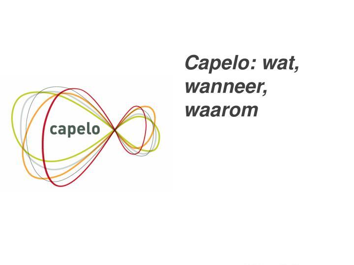 Capelo: wat, wanneer, waarom