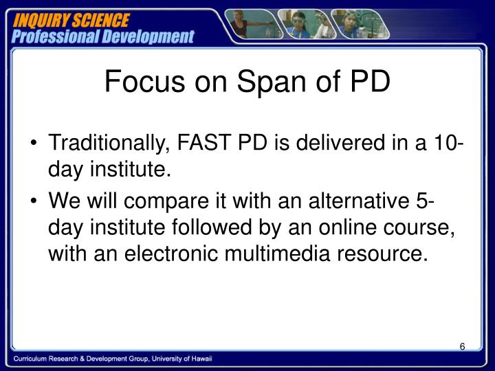 Focus on Span of PD