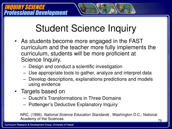 Student Science Inquiry