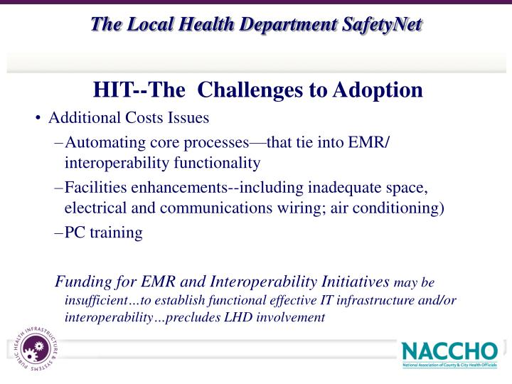 HIT--The  Challenges to Adoption