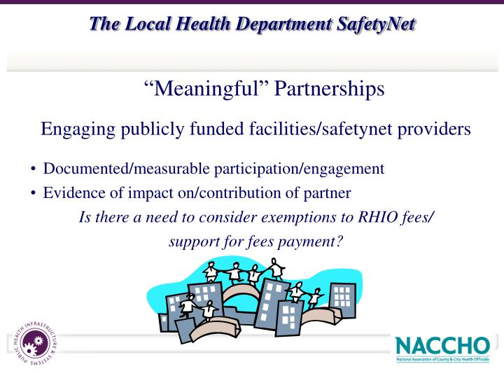 Engaging publicly funded facilities/safetynet providers