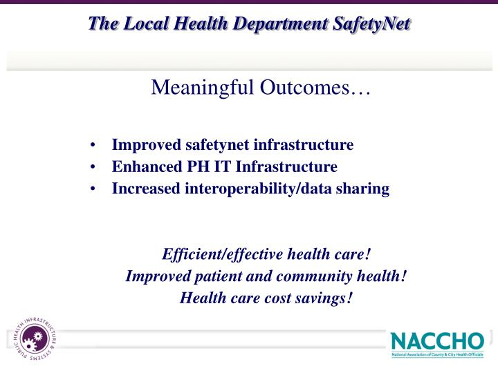 Improved safetynet infrastructure