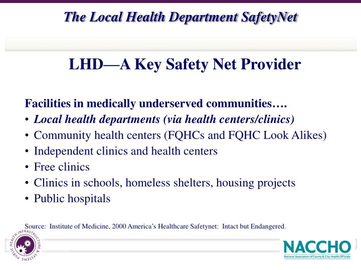 LHD—A Key Safety Net Provider