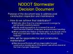 nddot stormwater decision document