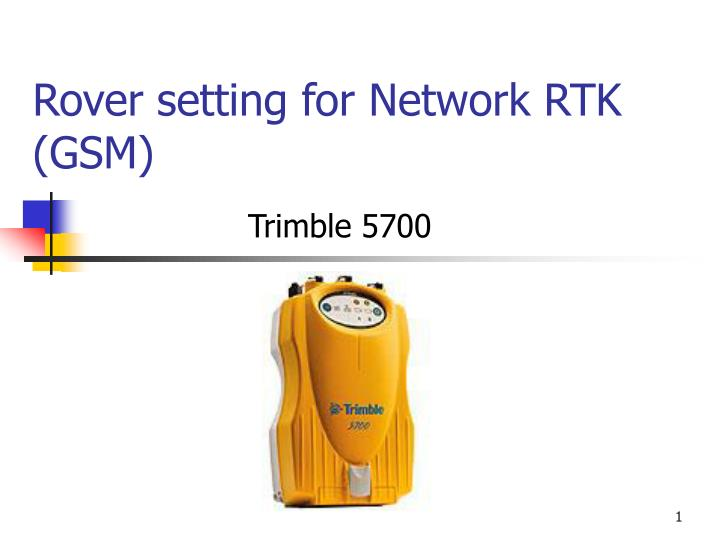rover setting for network rtk gsm n.