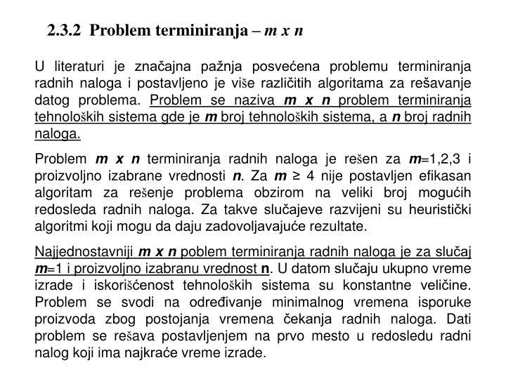 2.3.2  Problem terminiranja –