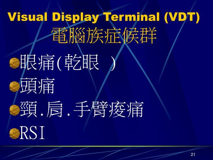 Visual Display Terminal (VDT)