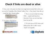 check if links are dead or alive