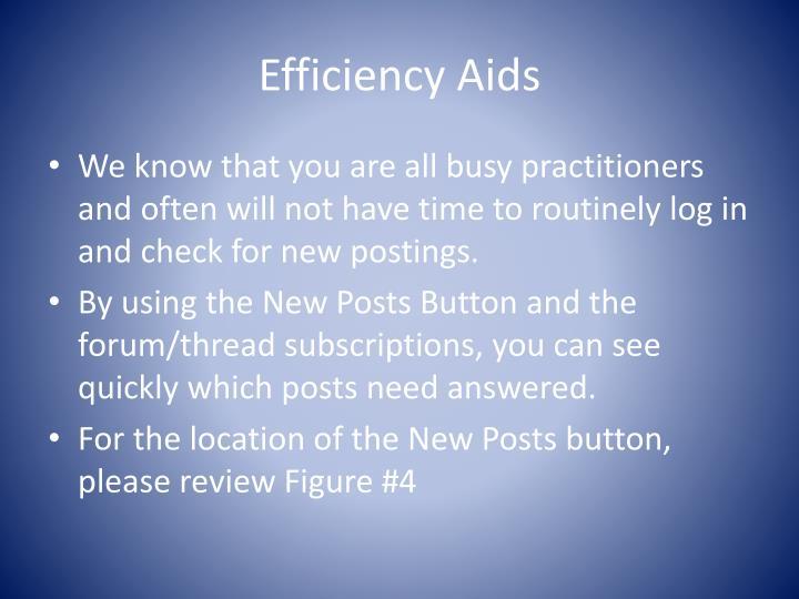 Efficiency Aids