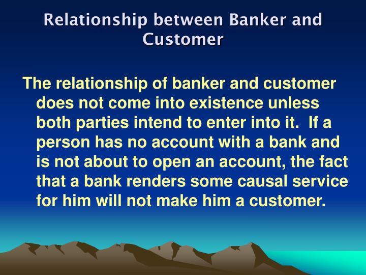 Relationship between banker and customer1