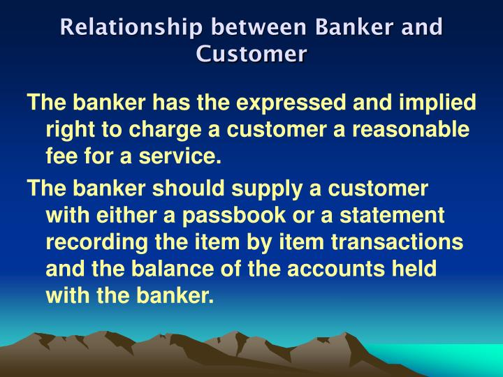 Relationship between banker and customer2