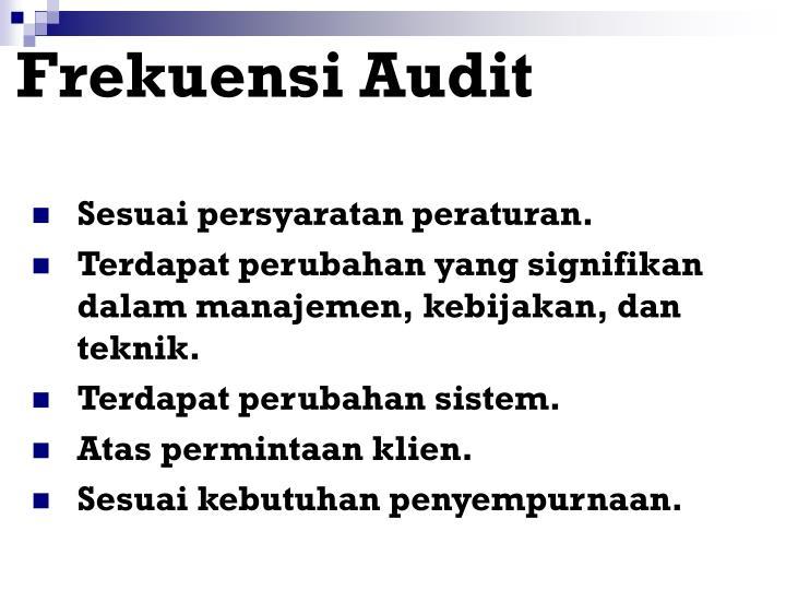 Frekuensi Audit