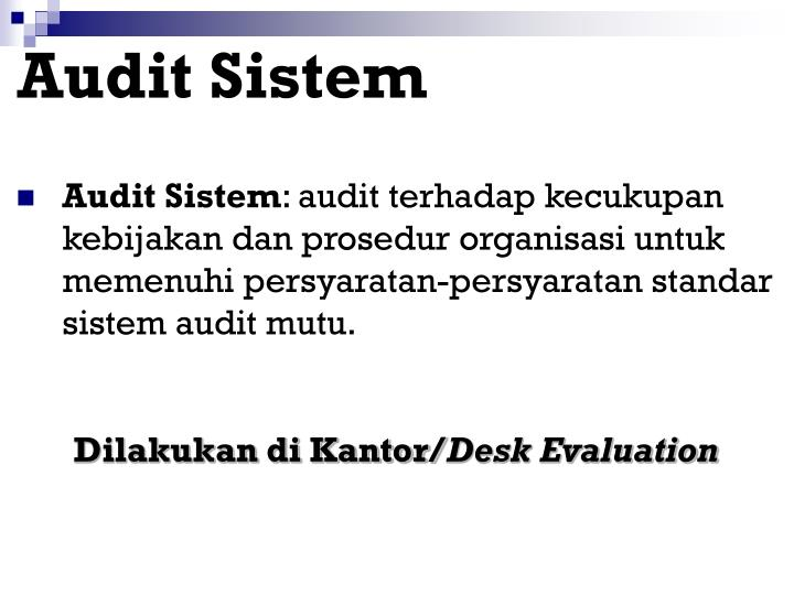 Audit Sistem