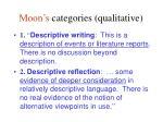 moon s categories qualitative