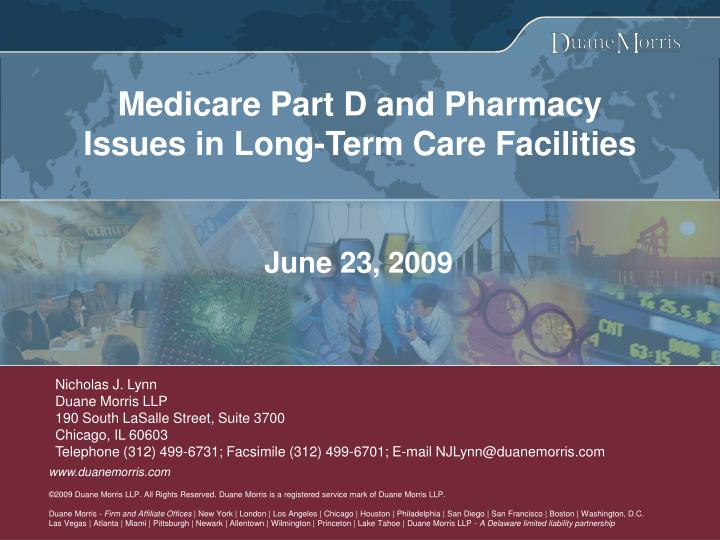 medicare part d and pharmacy issues in long term care facilities n.