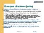 principes directeurs suite