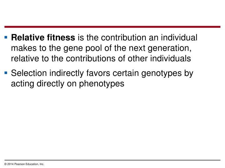 Relative fitness