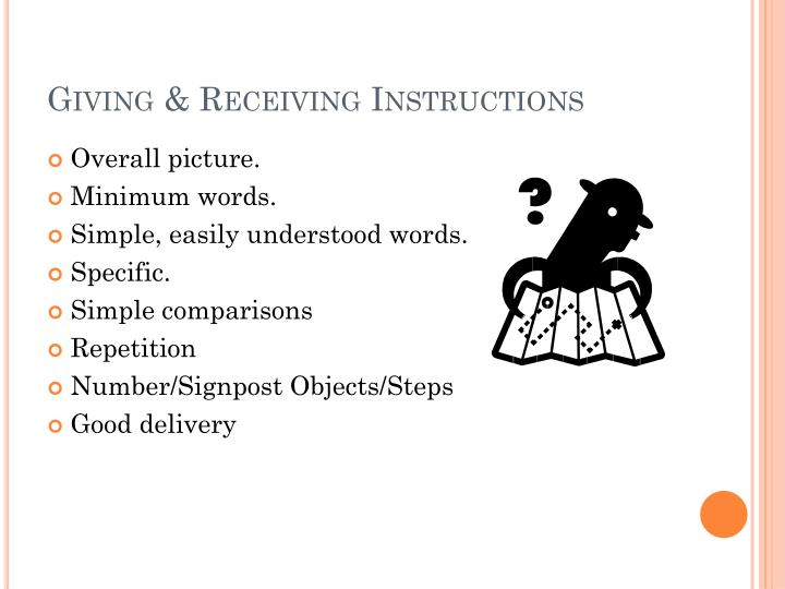 Giving & Receiving Instructions