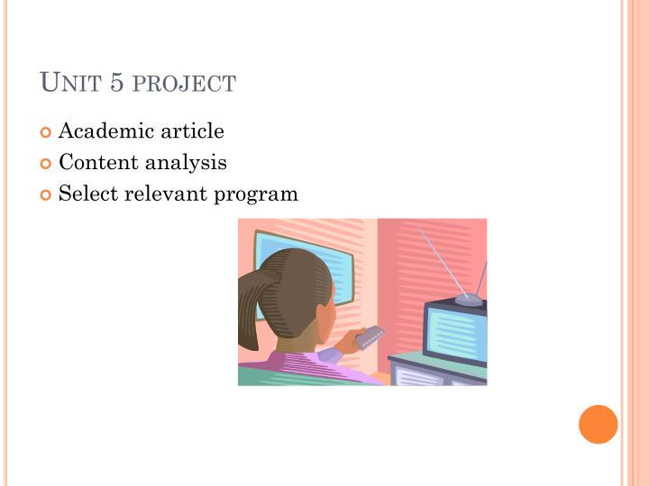 Unit 5 project