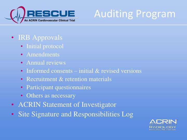 Auditing Program