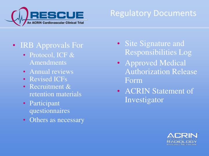IRB Approvals For