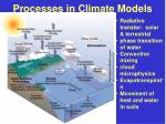 processes in climate models
