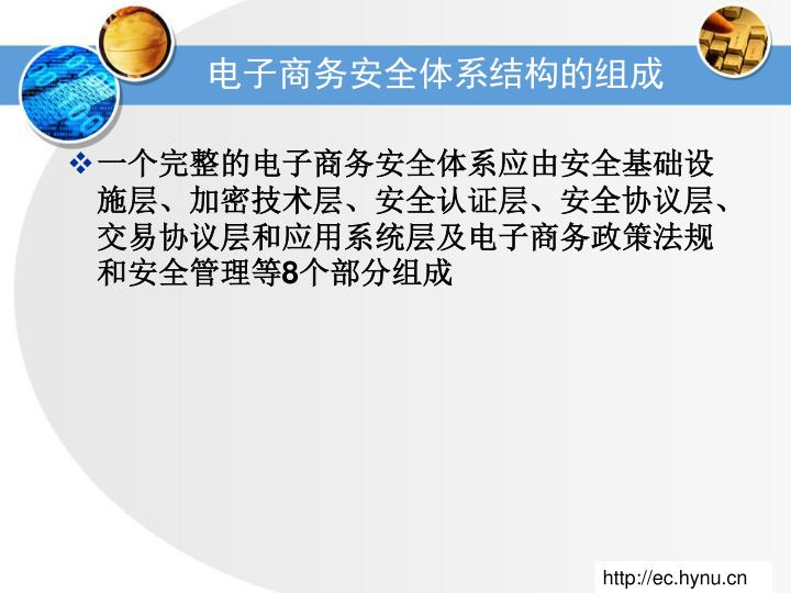 电子商务安全体系结构的组成