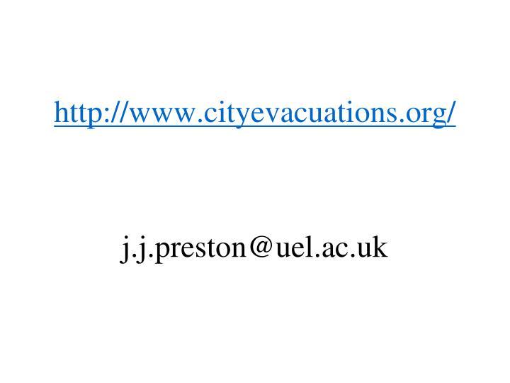 http://www.cityevacuations.org/