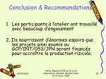 conclusion recommandations