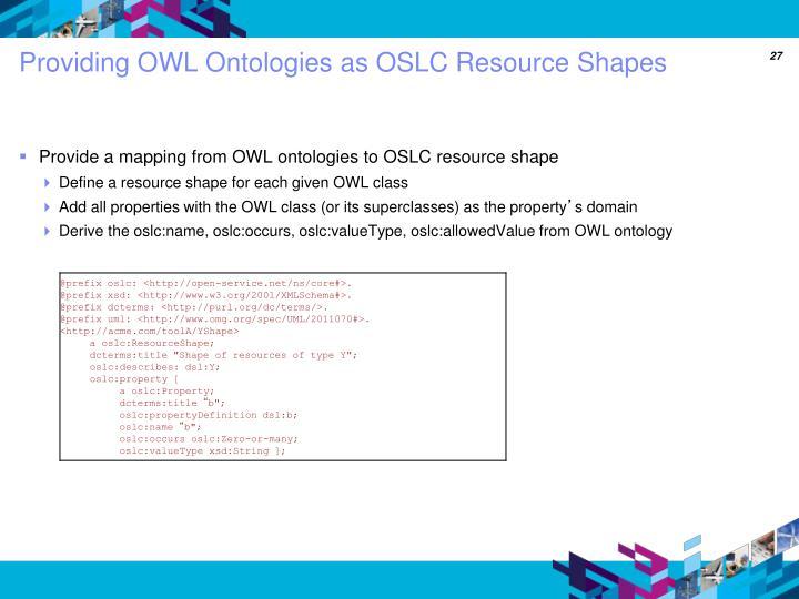 Providing OWL Ontologies as OSLC Resource Shapes
